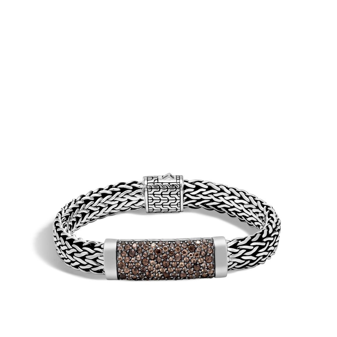 Classic Chain 11MM Station Bracelet in Silver with Gemstone