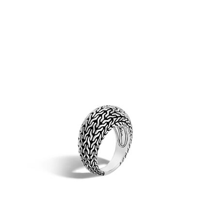 Classic Chain 11MM Dome Ring in Silver