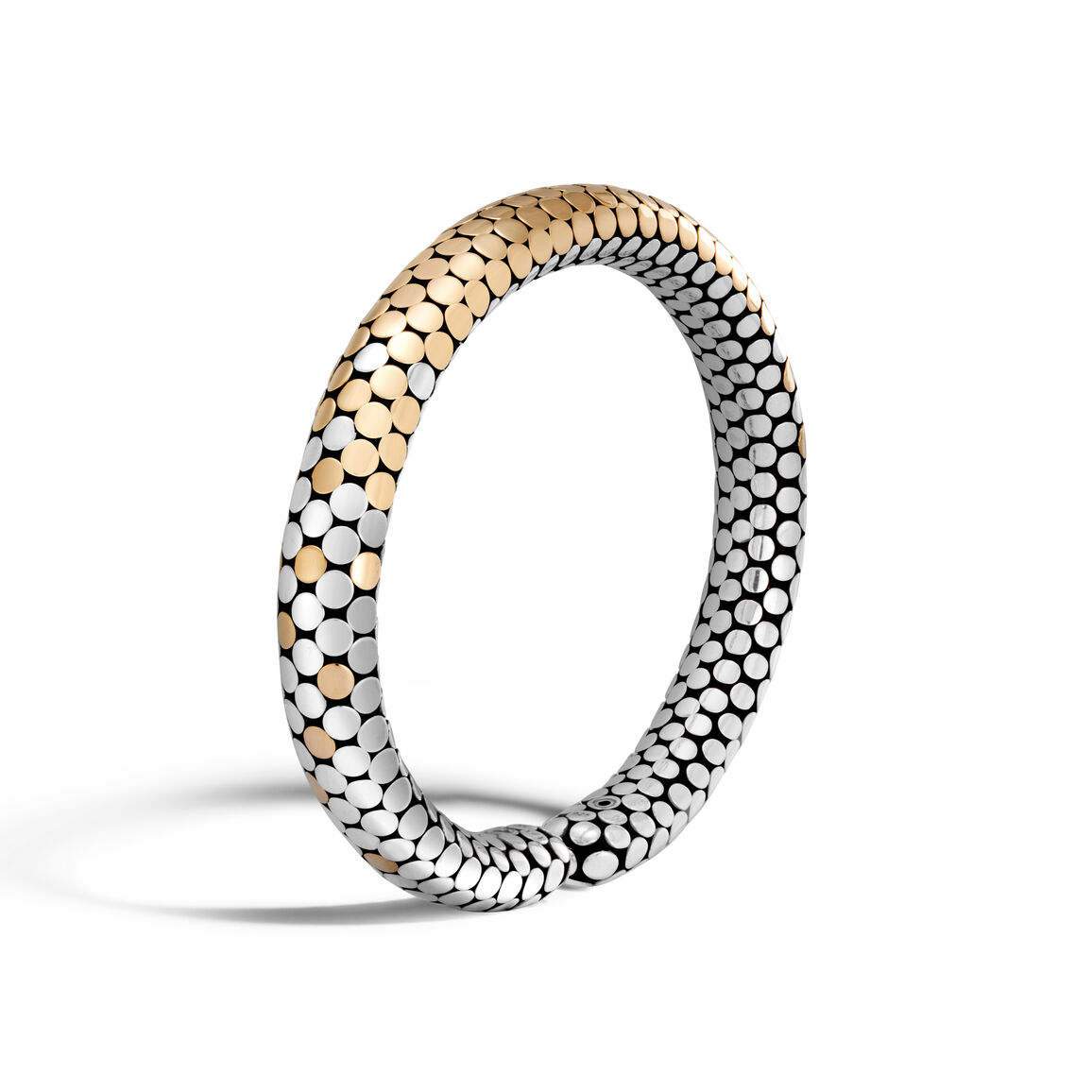 Dot 8MM Cuff in Silver and 18K Gold