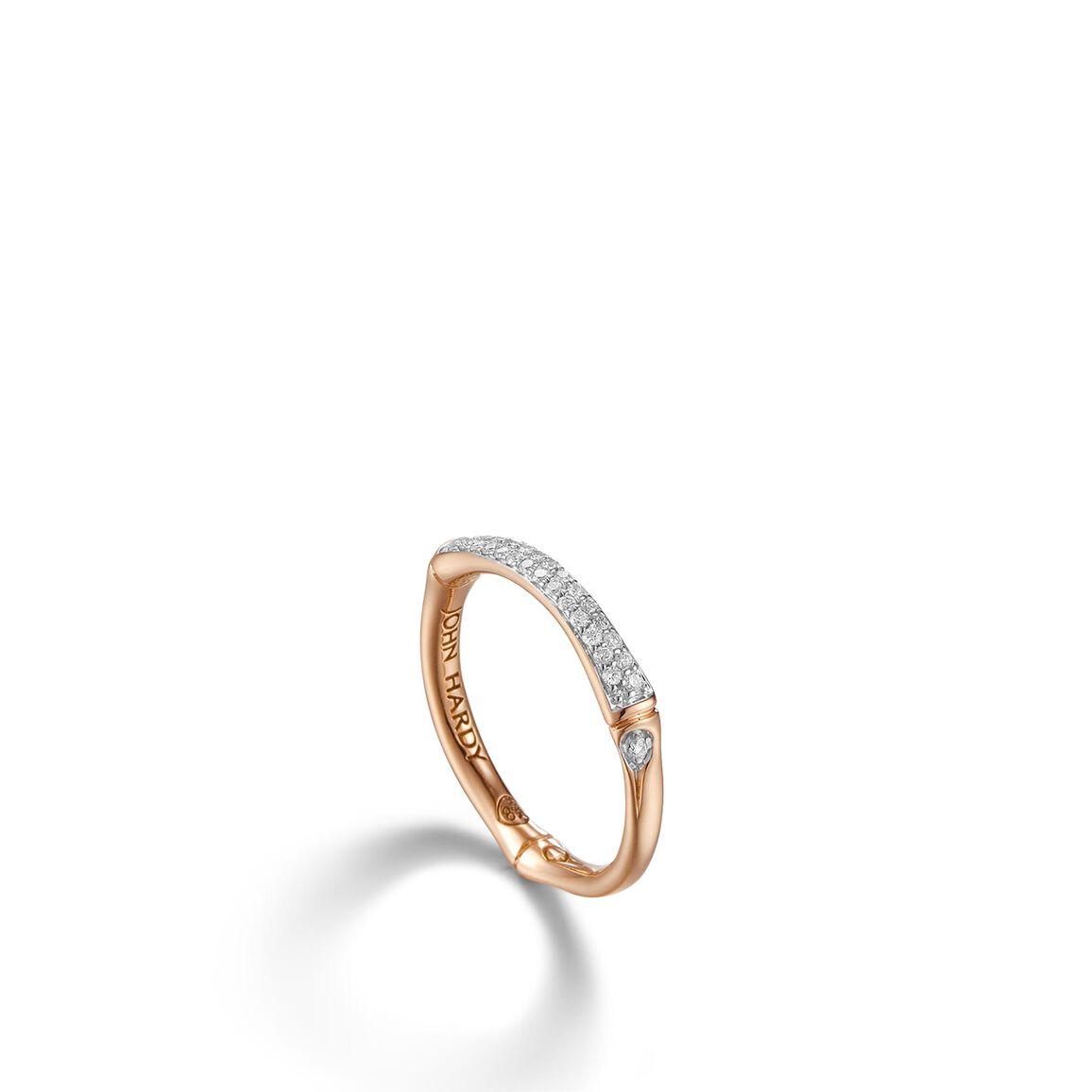 Slim Station Ring with Diamond