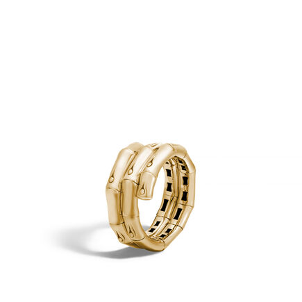 Bamboo Coil Ring in 18K Gold