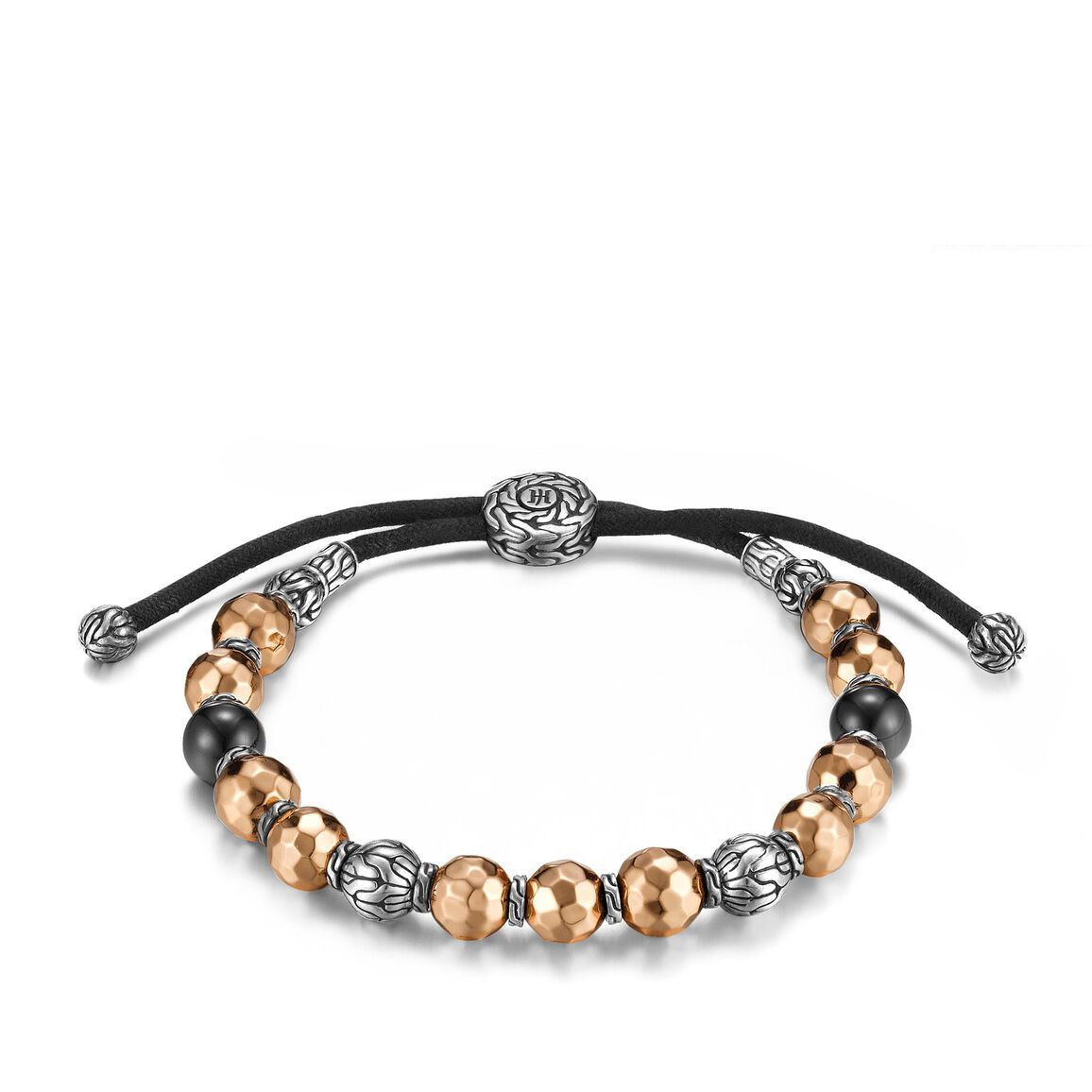 Classic Chain Bead Bracelet in Silver and Bronze