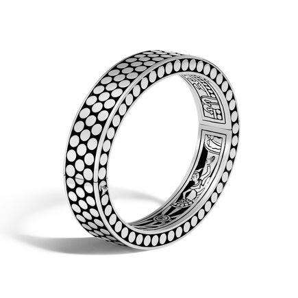 Dot 12.5MM Hinged Bangle in Silver