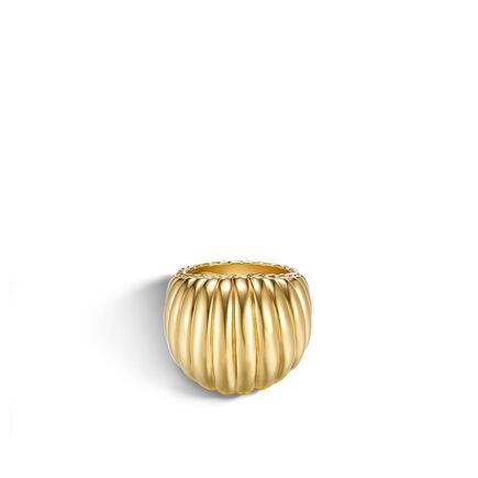 Classic Chain Dome Ring in 18K Gold