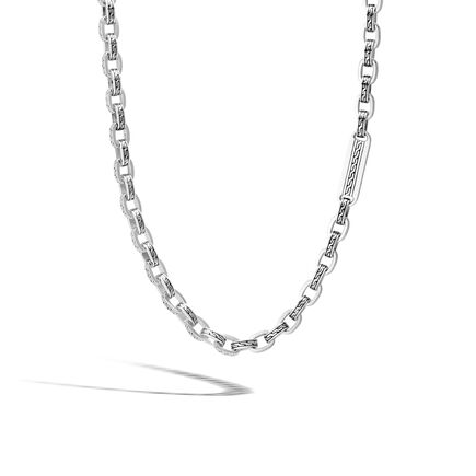 Classic Chain 7MM Link Necklace in Silver