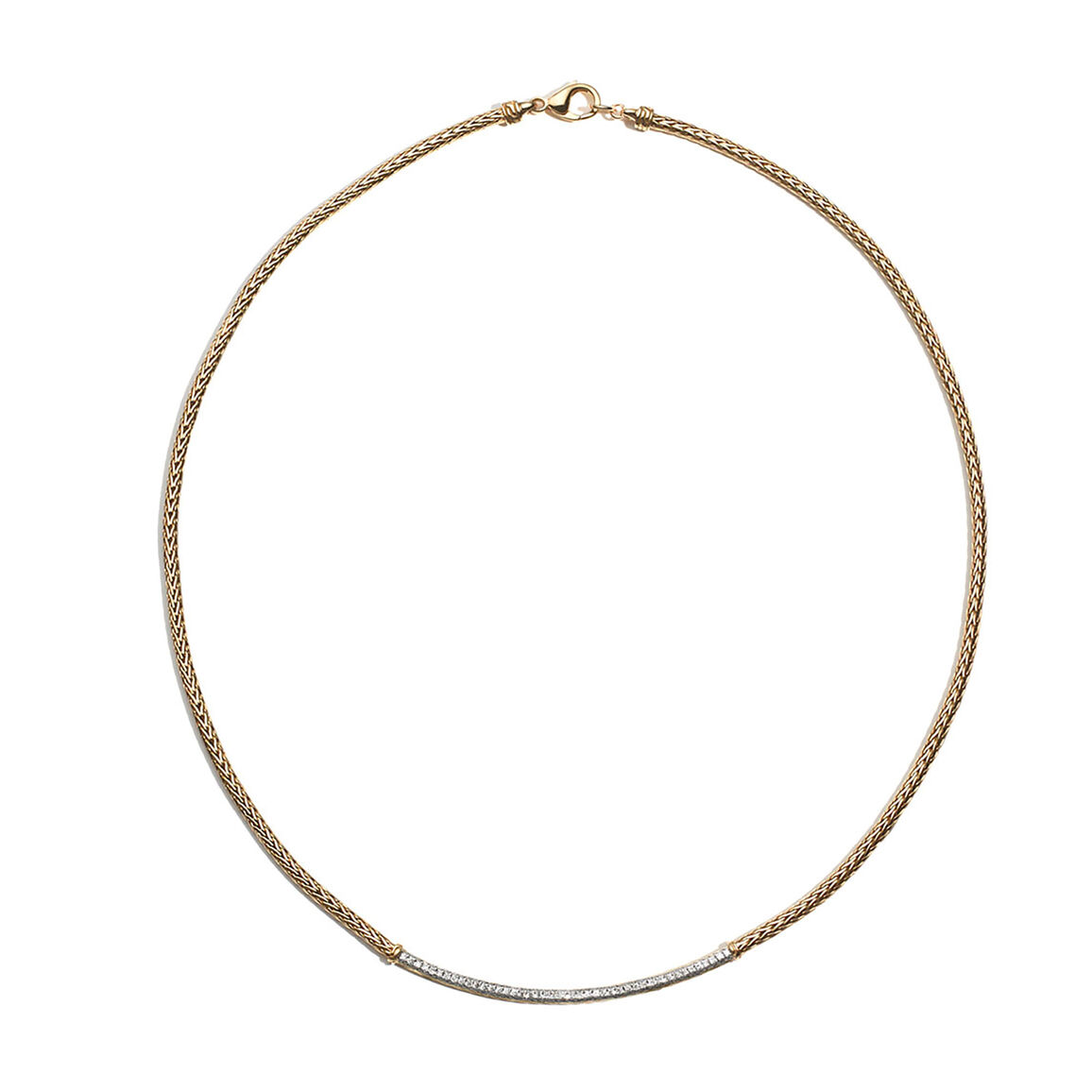 Classic Chain 2.5MM Station Necklace in 18K Gold