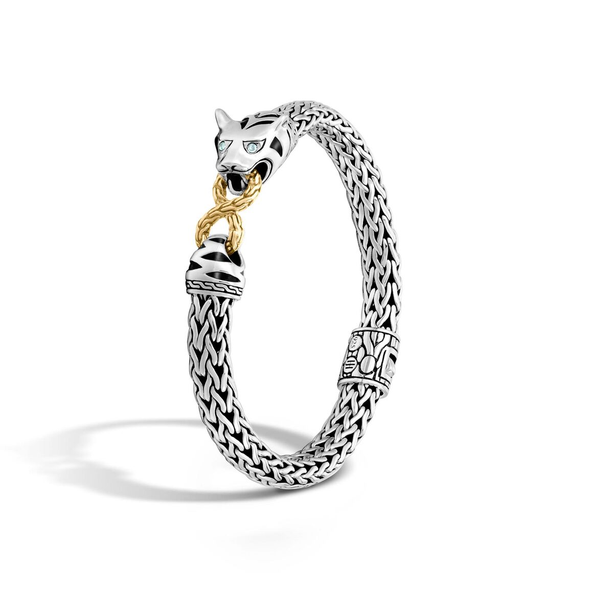Legends Macan 7.5MM Station Bracelet in Silver and 18K Gold
