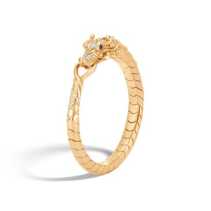 Legends Naga Bracelet in 18K Gold with Diamonds