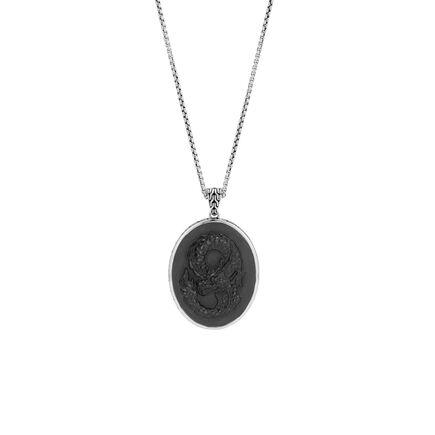 Legends Naga Carved Pendant Necklace with Gemstone