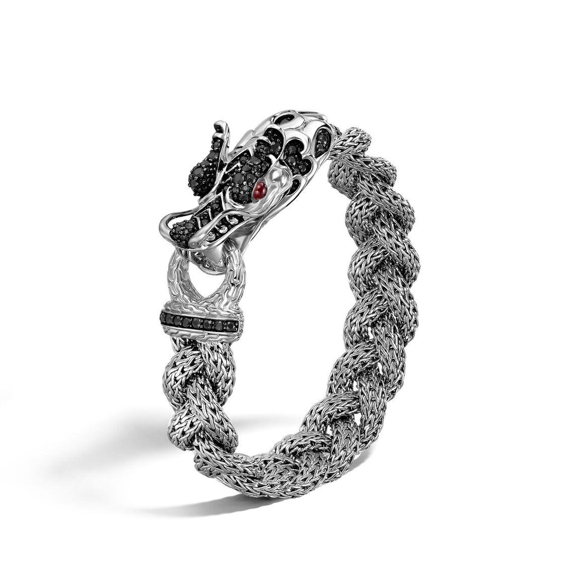 Legends Naga 13.5MM Station Bracelet in Silver with Gemstone