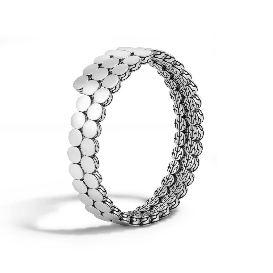 Dot Double Coil Bracelet in Silver