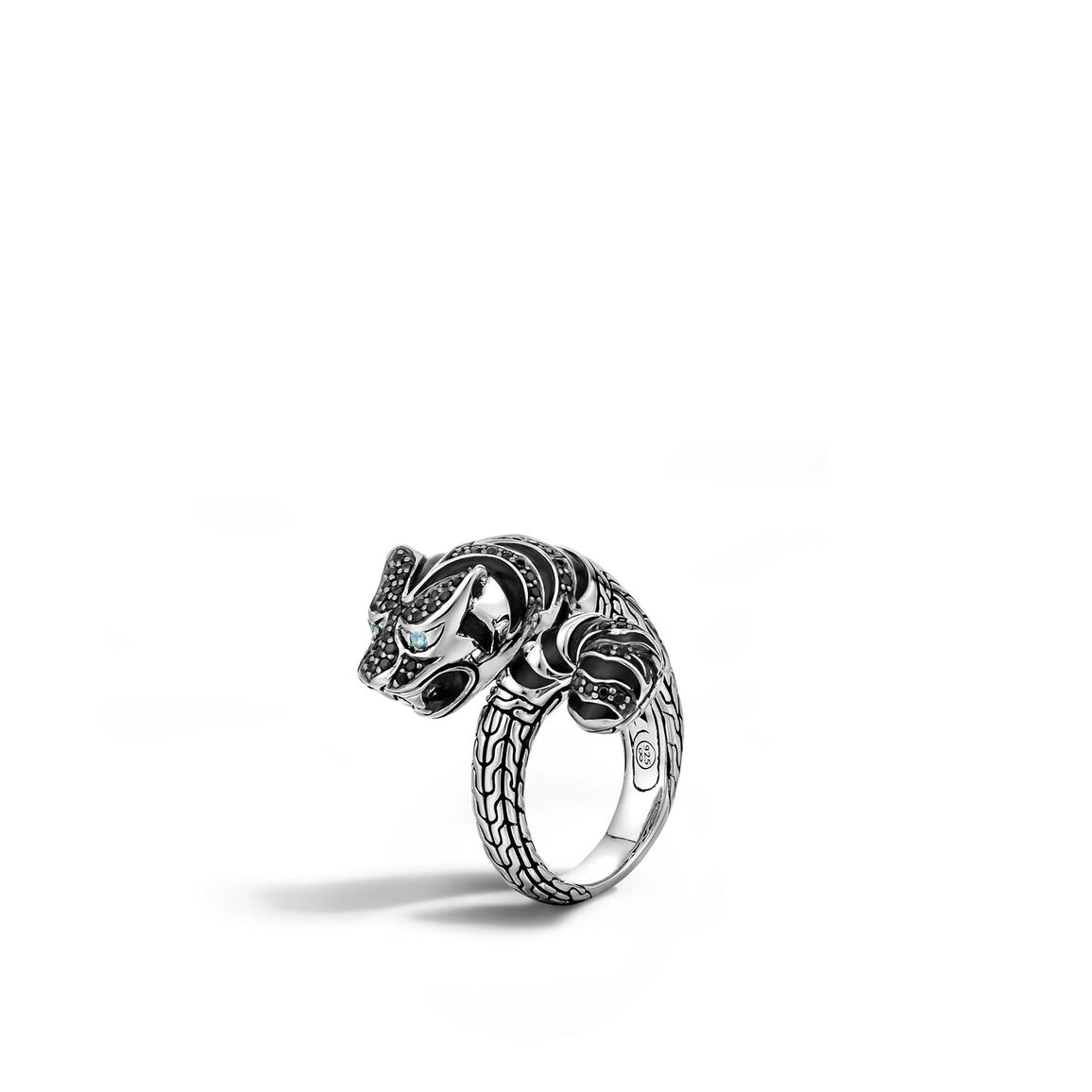 Legends Macan  Bypass Ring in Silver with Gemstone