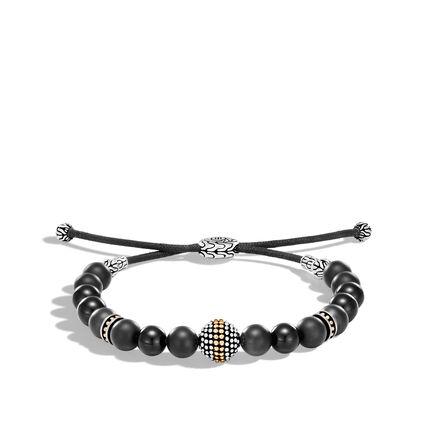 Chain Jawan Bead Bracelet in Silver, 18K Gold, 8MM Gemstone