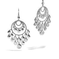 John Hardy - Dot Chandelier Earring in Hammered Silver