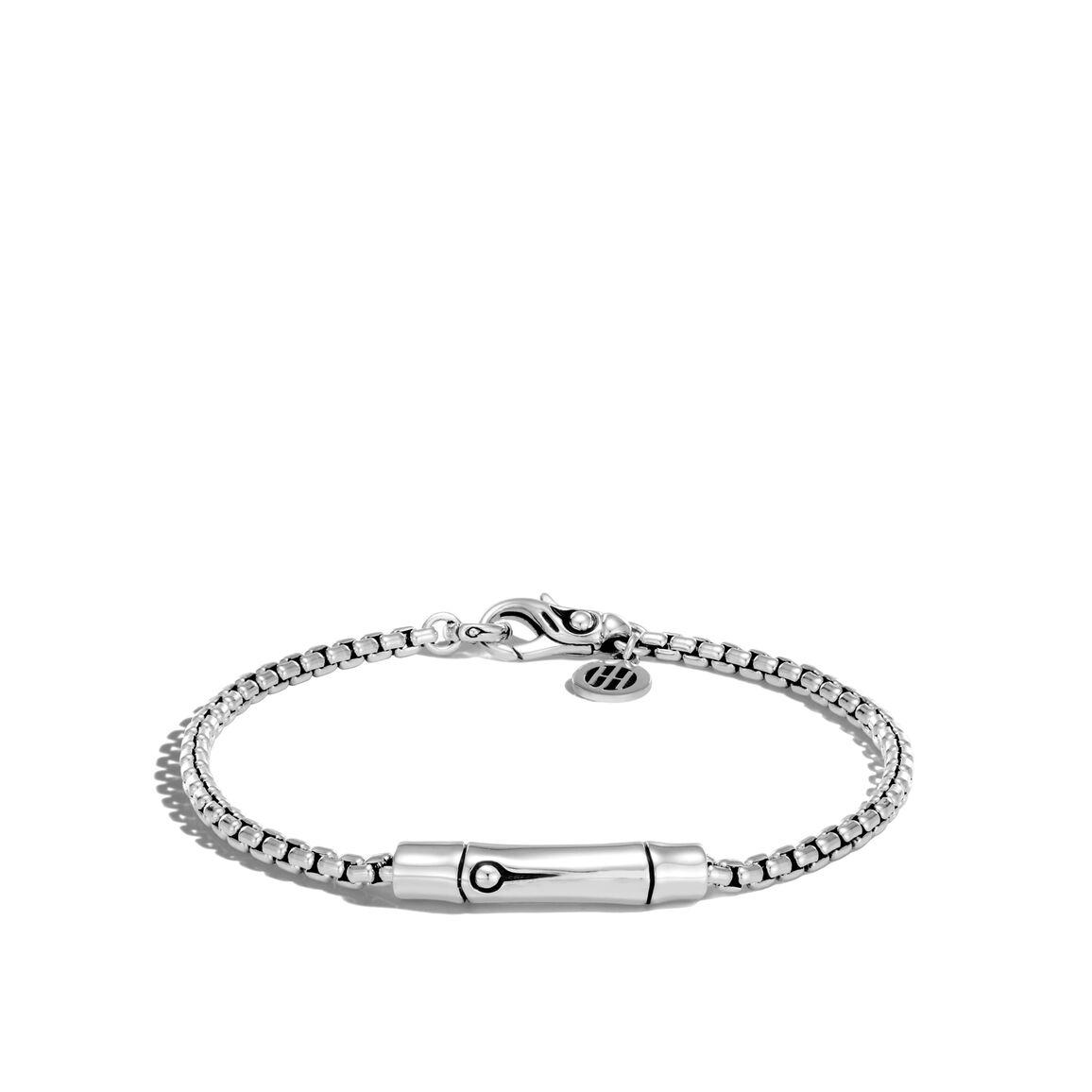 Bamboo 2.7MM Station Bracelet in Silver