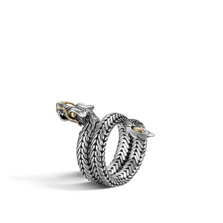 Legends Naga Coil Ring in Silver and 18K Gold
