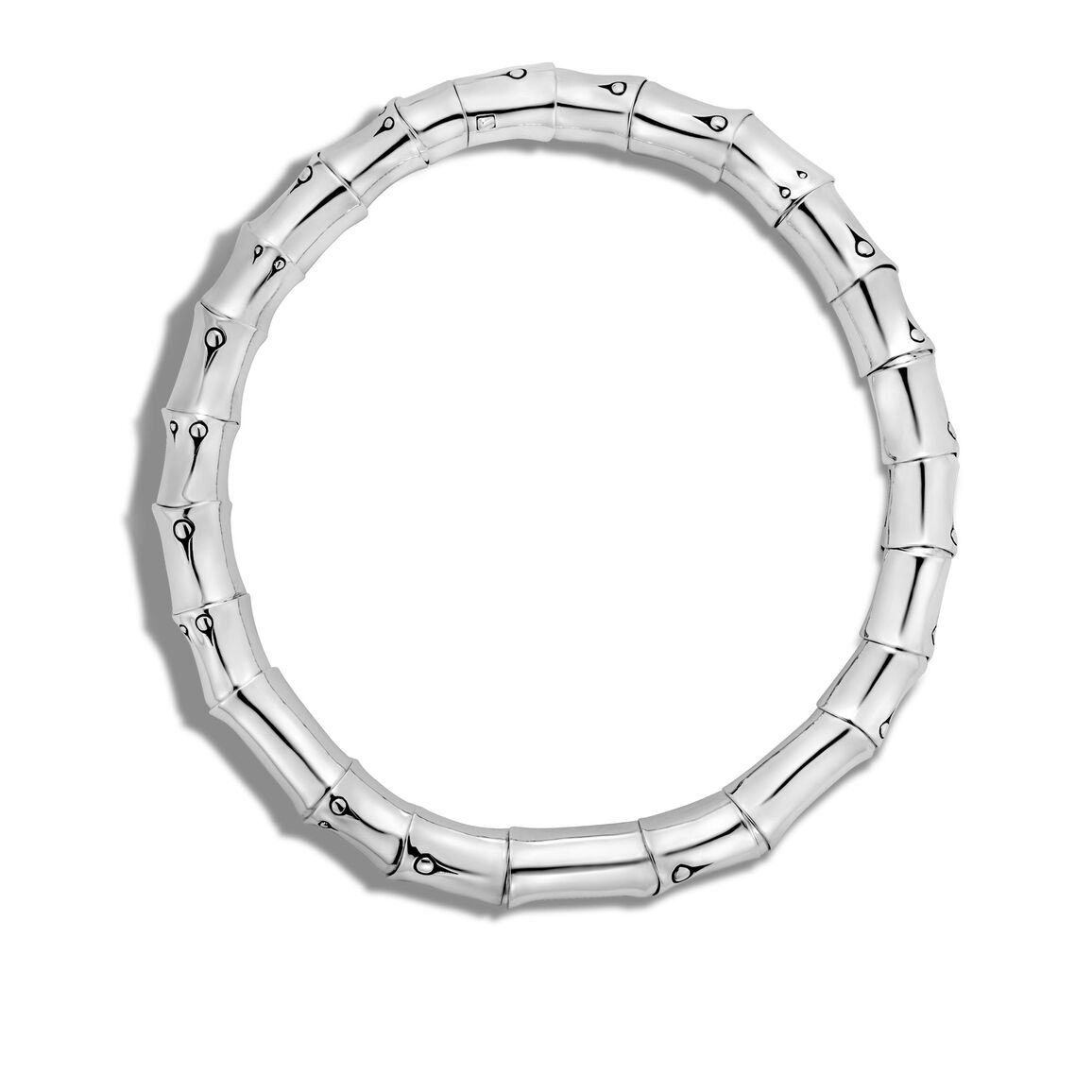 Bamboo 15MM Necklace in Silver