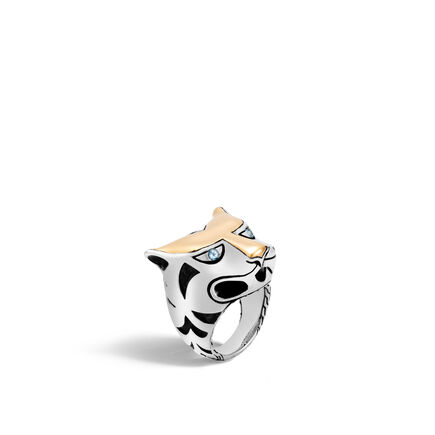 Legends Macan Ring in Silver and 18K Gold