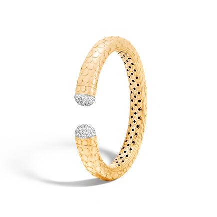 Dot 11MM Kick Cuff in 18K Gold with Diamonds