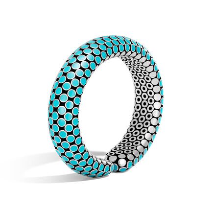 Dot 15.5MM Cuff in Silver with Enamel