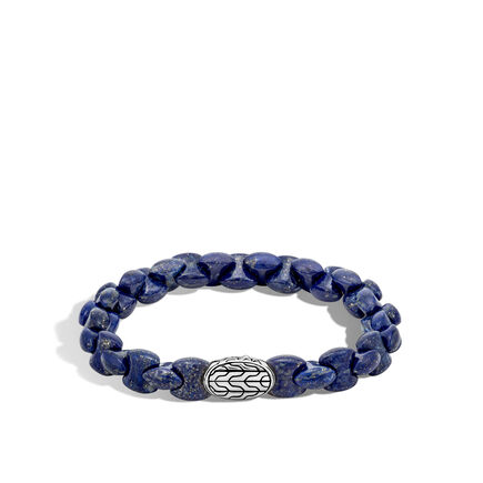 Classic Chain Bead Bracelet with Lapis