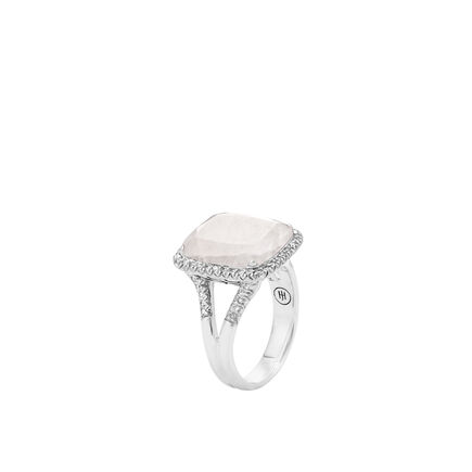 Classic Chain Magic Cut Ring, Silver, 15x12MM Gems, Diamonds