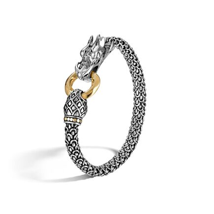 Legends Naga 6MM Station Bracelet in Silver and 18K Gold
