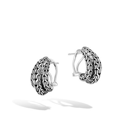 Classic Chain Buddha Belly Earring in Silver
