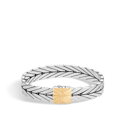 Modern Chain 11MM Bracelet in Silver and 18K Gold