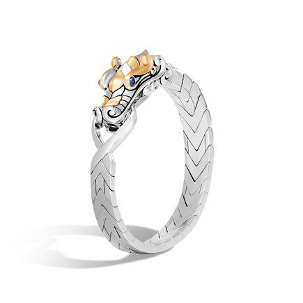 Legends Naga Station Bracelet in Brushed Silver and 18K Gold