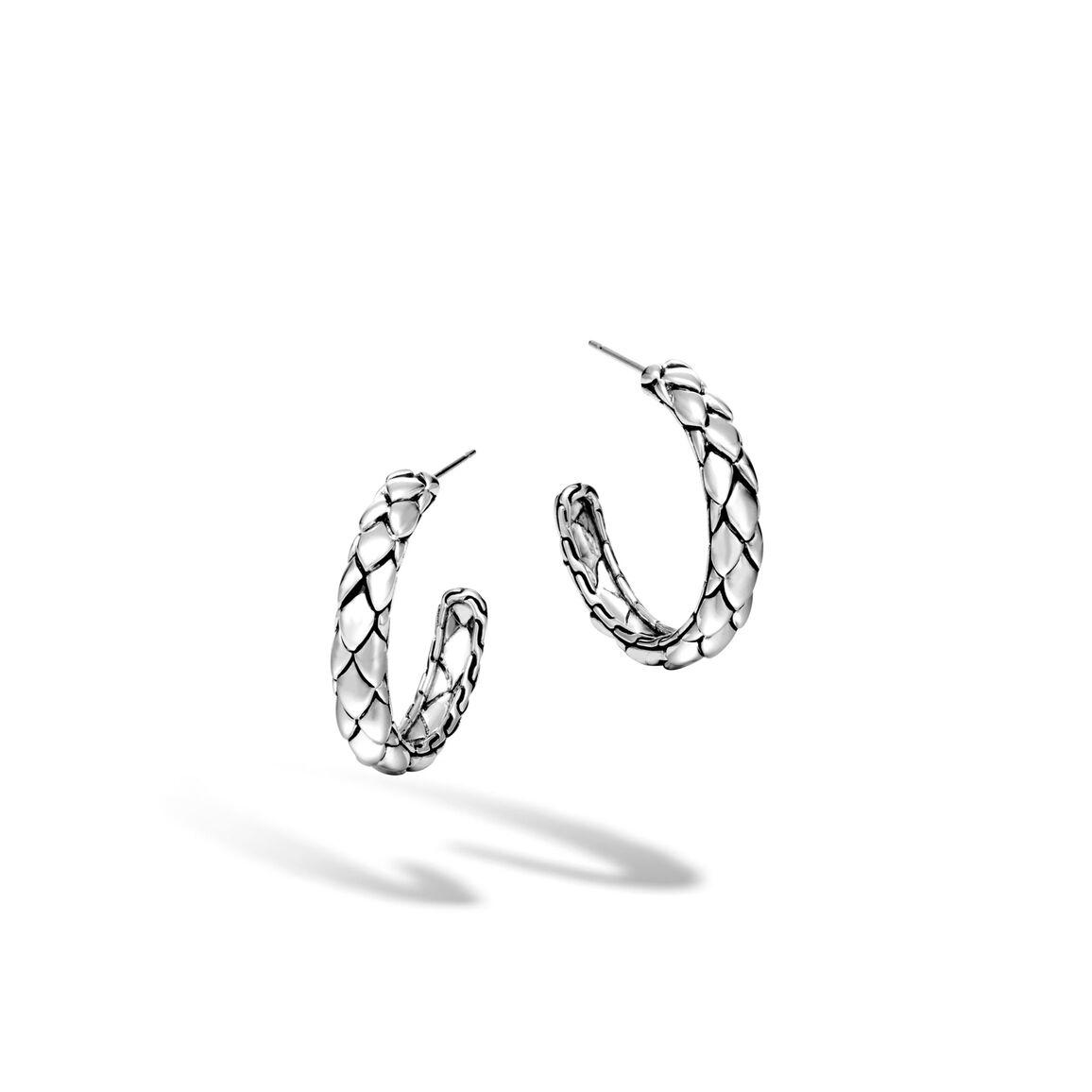 Legends Cobra Small Hoop Earring in Silver
