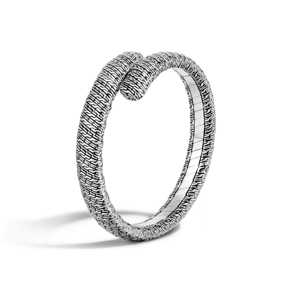 Classic Chain Single Coil Bracelet in Silver