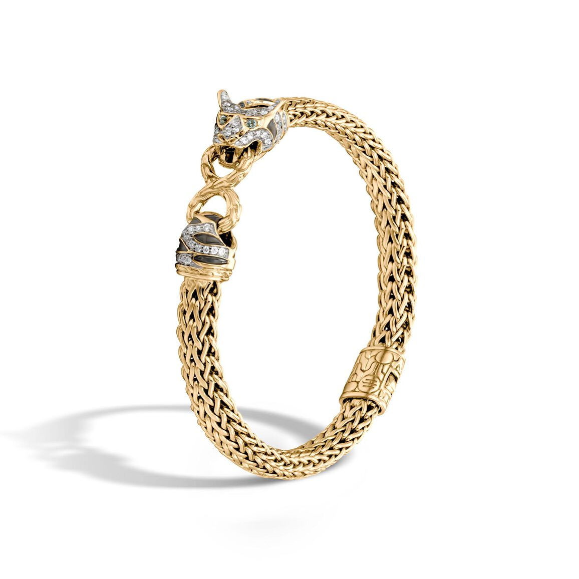 Legends Macan 6.5MM Station Bracelet, 18K Gold with Diamonds