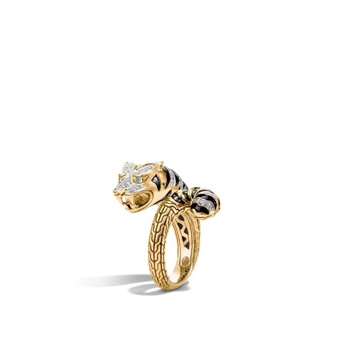 Legends Macan Bypass Ring in 18K Gold with Diamonds
