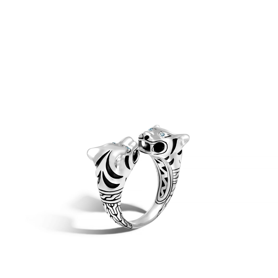 Legends Macan Double Head Ring in Silver