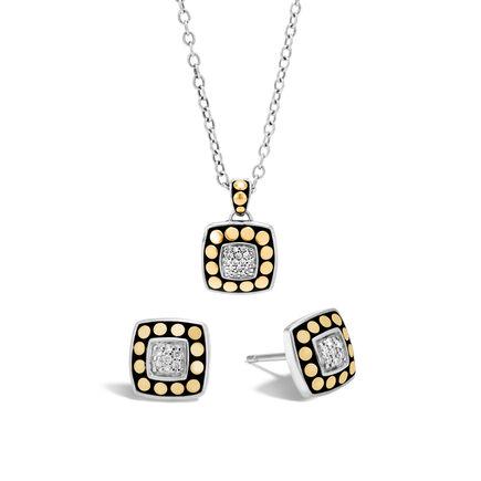 Dot Gold and Silver Diamond Gift Set