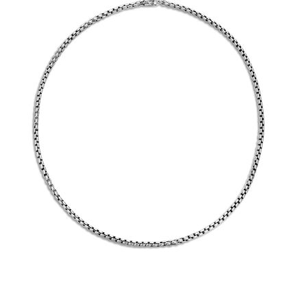 4MM Box Chain Necklace in Silver