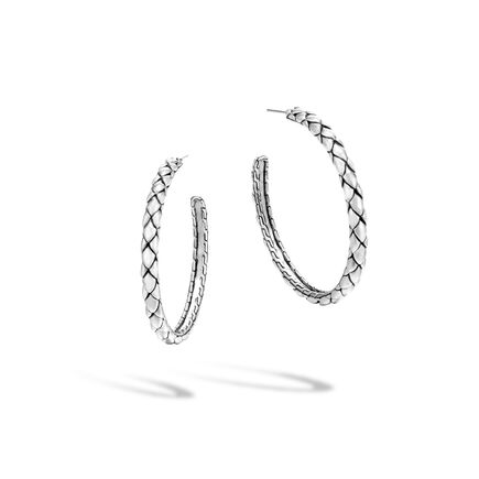 Legends Cobra Medium Hoop Earring in Silver