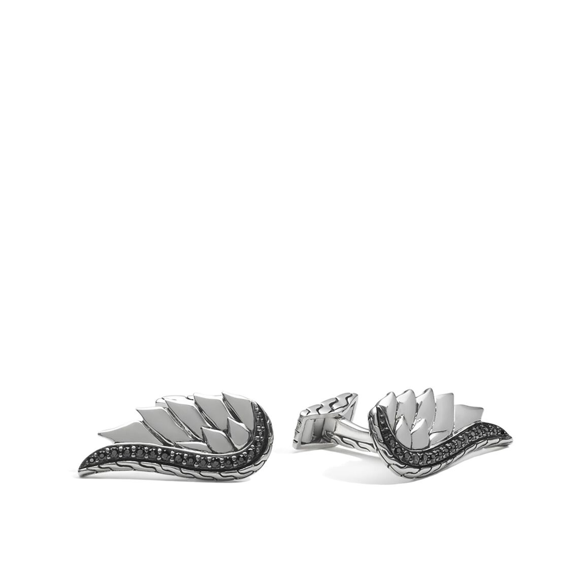 Legends Eagle Wing Cufflinks in Silver with Gemstone