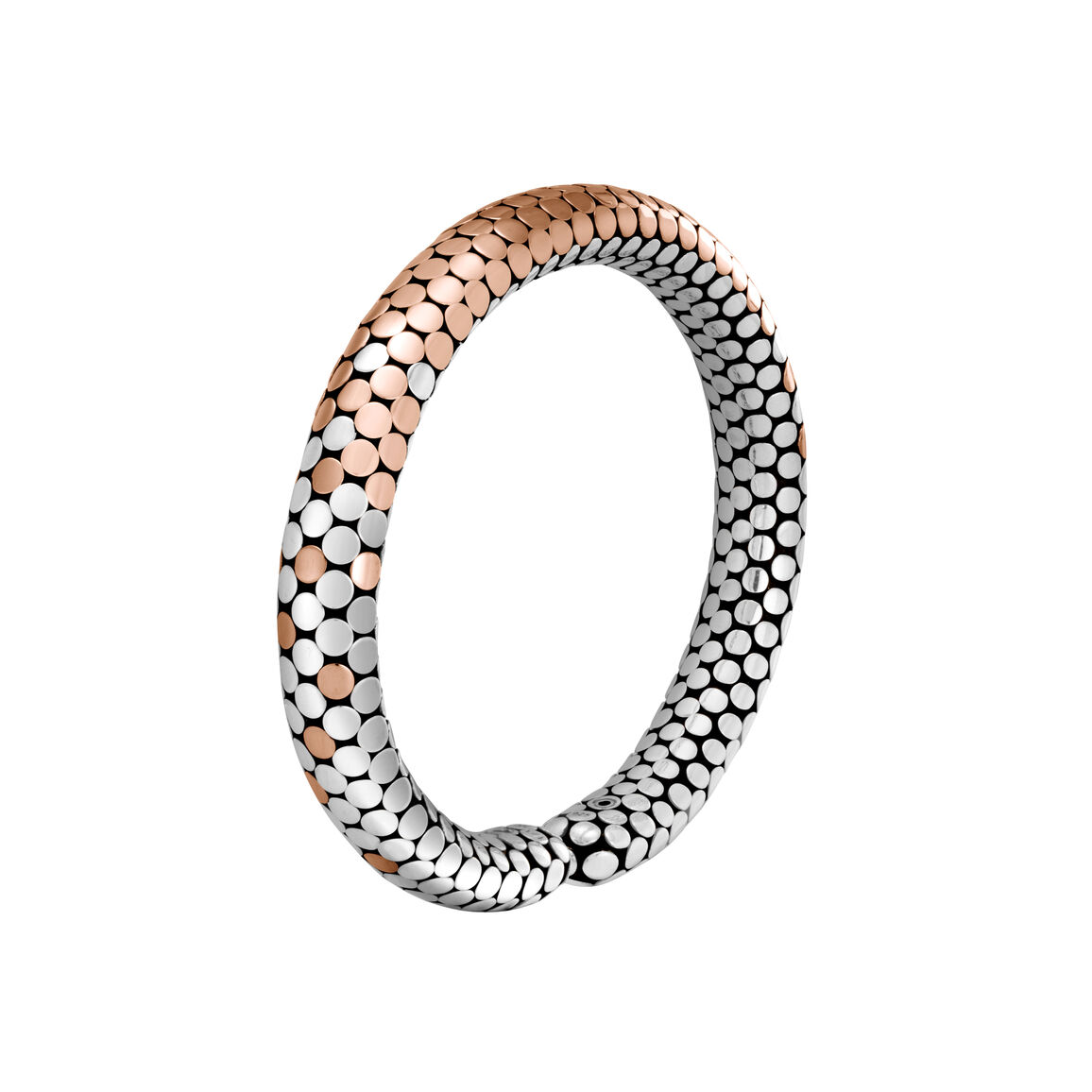 Dot 9MM Cuff in Silver and 18K Rose Gold