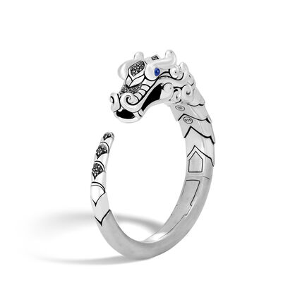 Legends Naga Kick Cuff in Brushed Silver with Gemstone