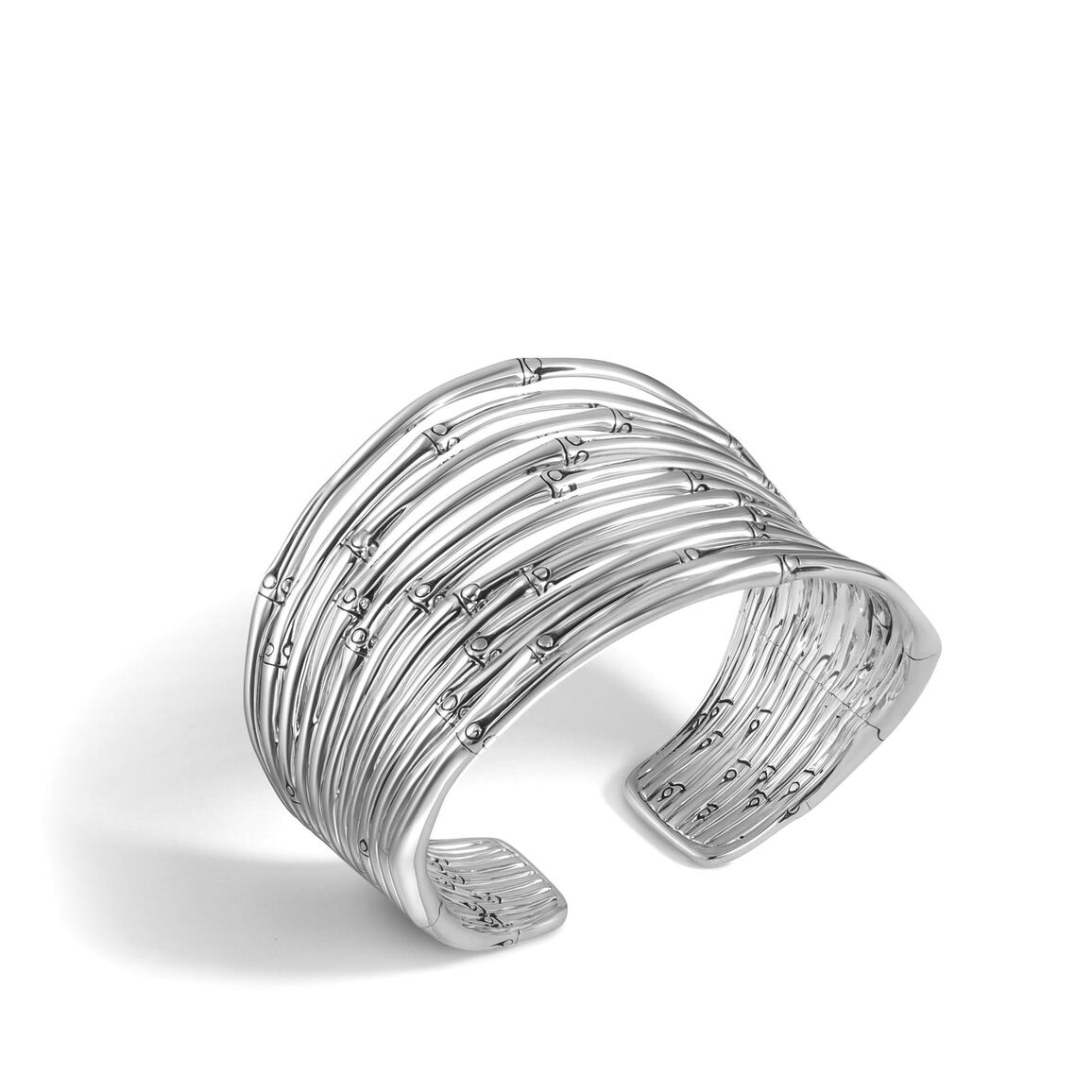Bamboo 49.5MM Cuff in Silver