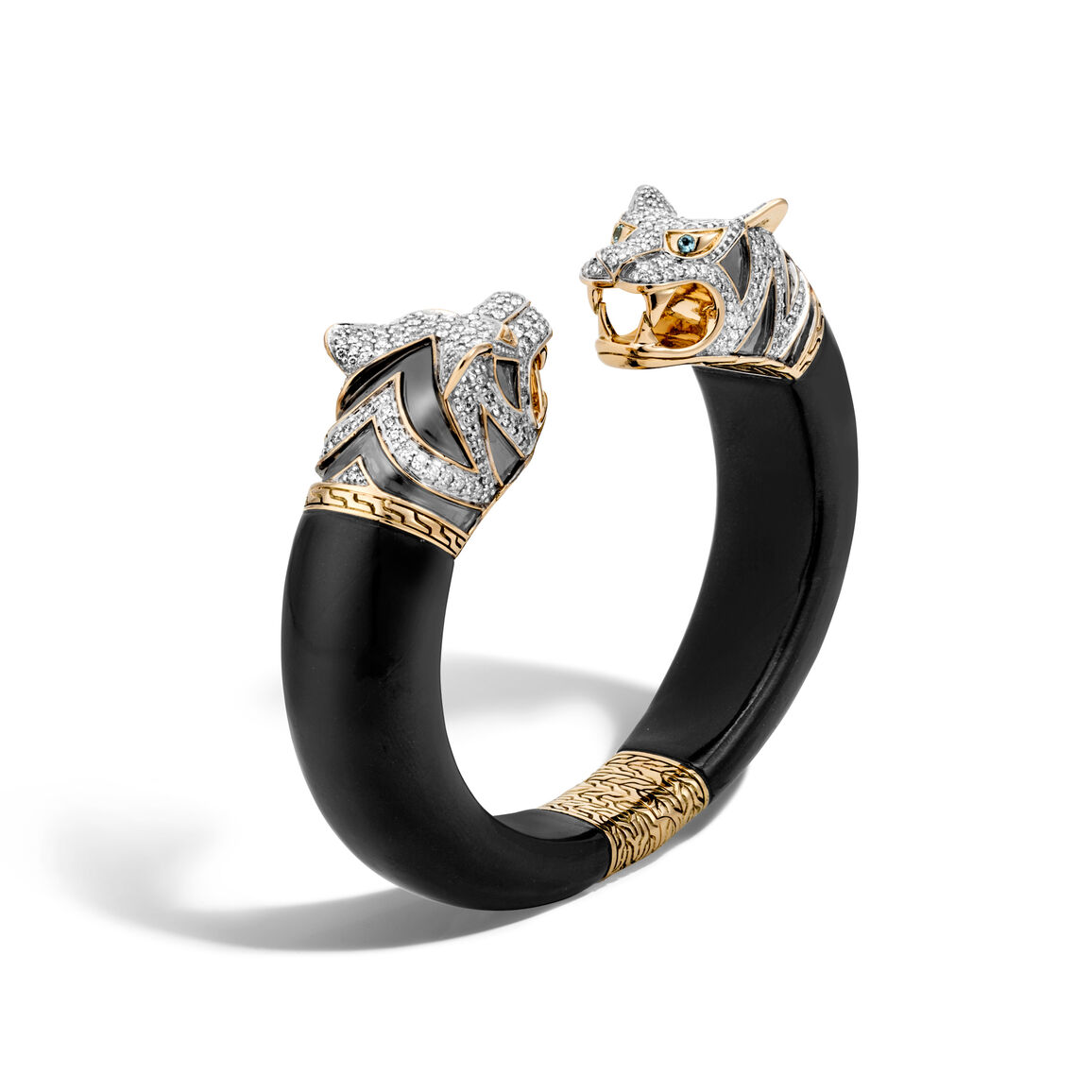 Legends Macan Double Head Kick Cuff, 18K, Gemstone, Diamonds