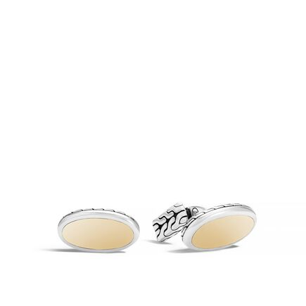 Classic Chain Oval Cufflinks