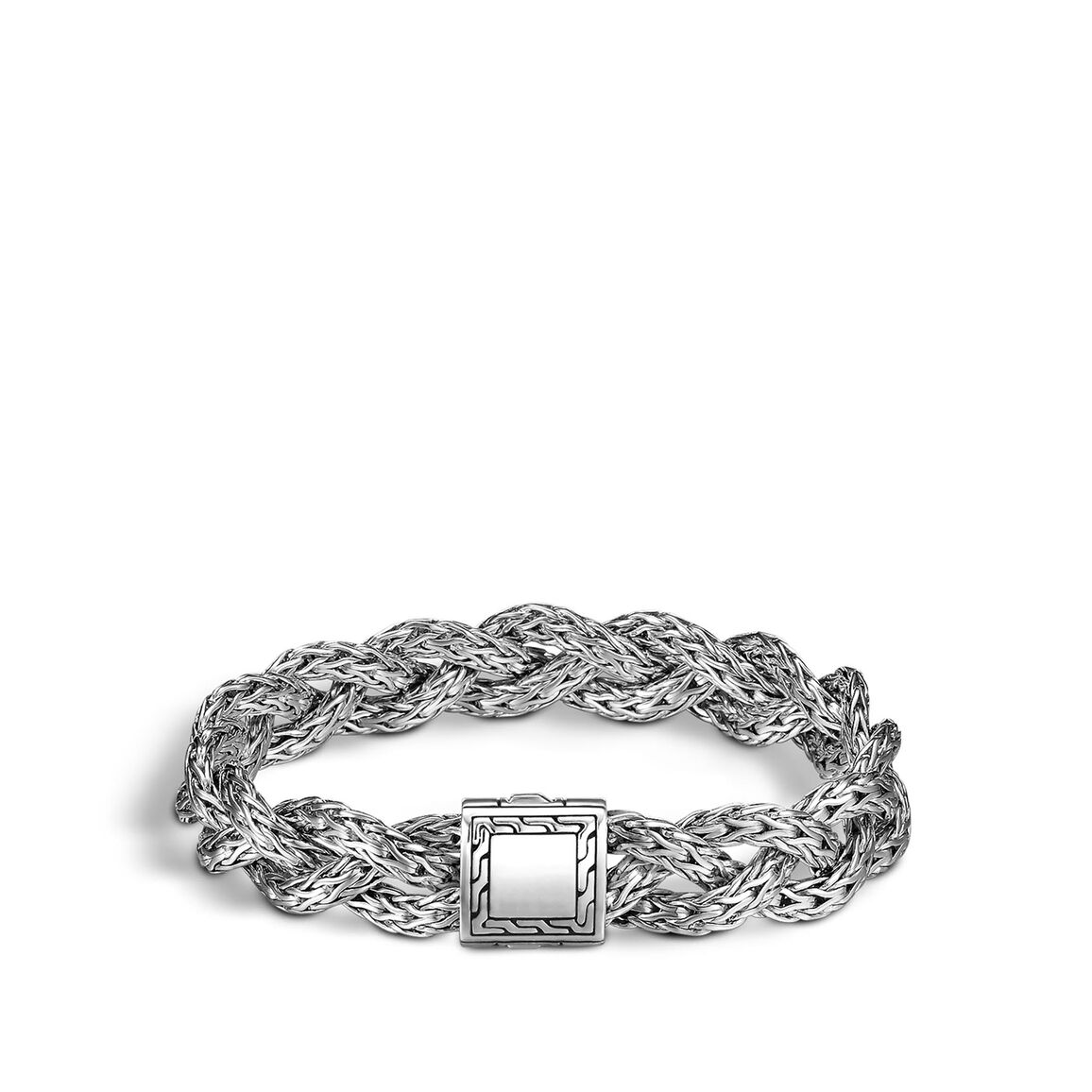 Braided Chain 11MM Bracelet in Silver