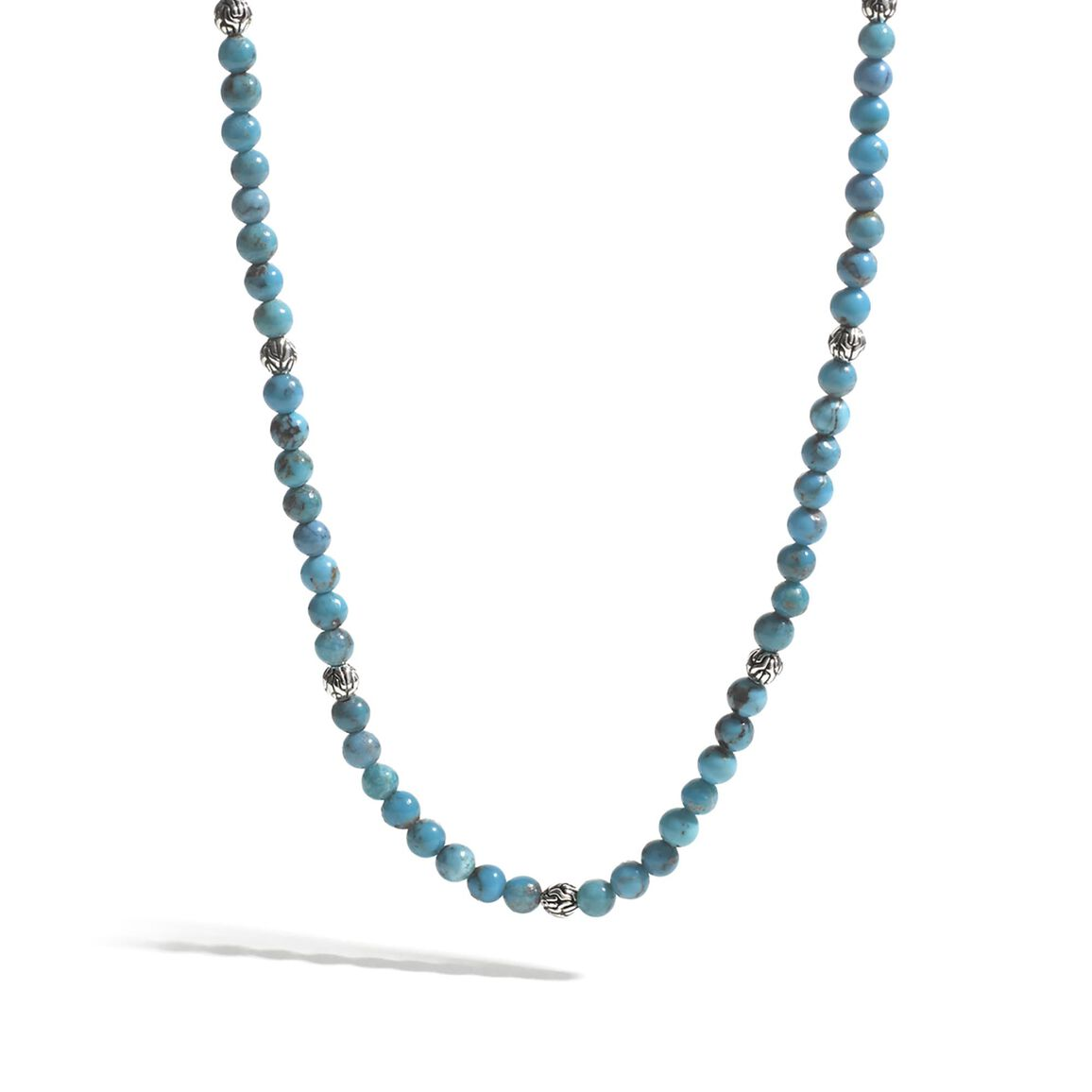 Classic Chain Bead Necklace with 4MM Gemstone