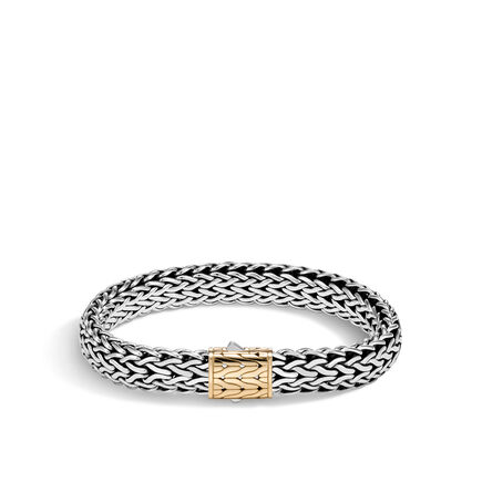Classic Chain 11MM Bracelet in Silver and 18K Gold