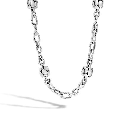 Kali 8MM Station Necklace in Silver