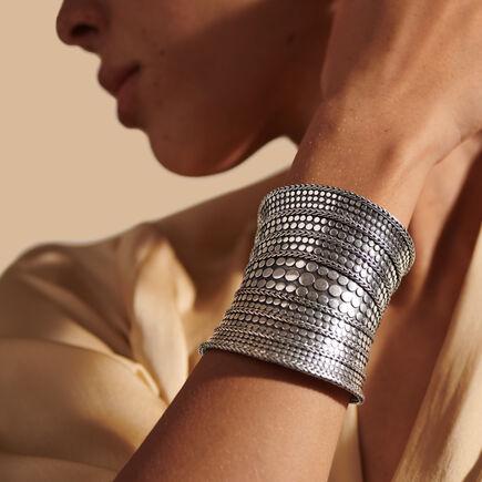 Dot 77MM Cuff in Silver