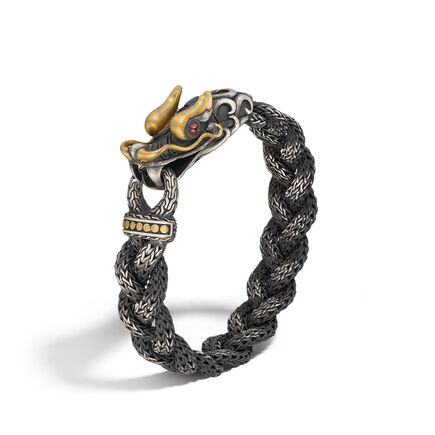 Legends Naga 13.5MM Station Bracelet in Silver and 18K Gold